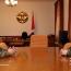 Karabakh president, Armenia Defense Minister talk army building strategies