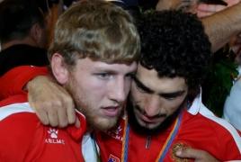 Олимпийская сборная Армении вернулась на родину с триумфом