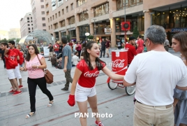 Festive mood and Coke from Coca-Cola Hellenic Armenia