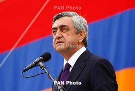 Президент РА: В мире не существует силы, способной решить карабахский вопрос военным путем