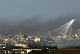 "Israel strikes ""terror targets"" in Gaza in retaliation to rocket fire"