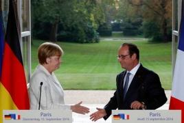 Hollande, Merkel meet in Paris to discuss EU's future