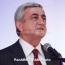 President Sargsyan due in Kyrgyzstan for CIS Council session