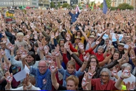 Thousands march in Brussels against transatlantic free trade deals
