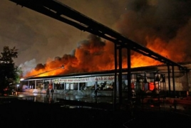 8 firefighters killed in Moscow warehouse blaze
