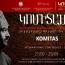 Երևանում մեկնարկում է «Կոմիտասը և միջնադարյան մշակույթը» միջազգային գիտաժողով-փառատոնը
