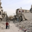 Bunker-busting bombs close Aleppo underground schools, charity says