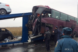 5 killed,  27 injured in Moscow-Yerevan passenger bus crash
