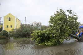 Hurricane Nicole roars across Bermuda, moves into Atlantic