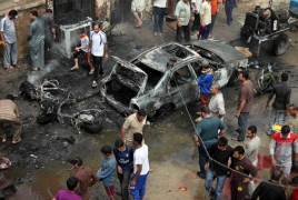 IS claims suicide bombing targeting Iraqi Shiites that killed at least 32