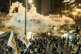 Rio police fire tear-gas during Brazil govt spending cap protest