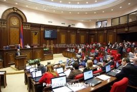 Armenia parliament OKs amendments to Electoral Code