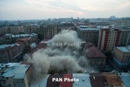 Պայթեցնելով քանդվել է Երևանի կենտրոնում գտնվող նախկին տպարանը