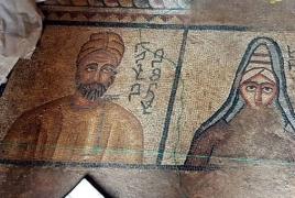 В Турции раскопали редкую мозаику времен армянского царя Абгара