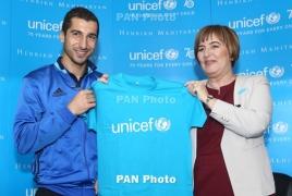 Мхитарян: Я готов помогать ЮНИСЕФ  в поддержке армянских семей