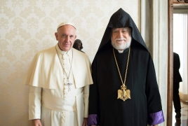 Catholicos Aram I thanks Pope Francis for Genocide pronouncements