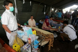 At least 45,000 displaced after strong quake in Indonesia
