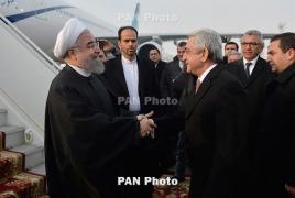 Iran's President arrives in Armenia
