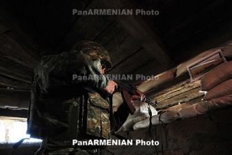 Azeri troops fire from Black Arrow, Istiglal and SVD sniper rifles