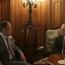 Armenian, Russian FMs talk Karabakh settlement in Moscow