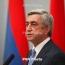 Президент Армении: Новая война не может привести к решению карабахского вопроса