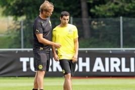 Man Utd's Mkhitaryan thanks former coach Jurgen Klopp for advice
