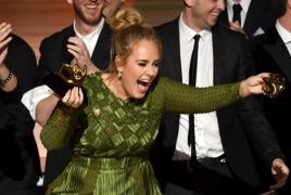 Адель завоевала 5 статуэток «Грэмми»:  Hello признана «Лучшей песней» 2016 года