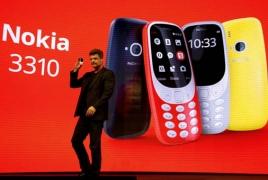Обновленный телефон Nokia 3310  представили на выставке в Барселоне