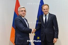 Саргсян: Завершены переговоры по новому правовому документу между Арменией и ЕС