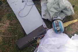 Artsakh army destroys Azerbaijani drone on contact line