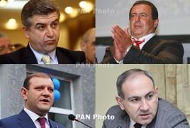 Armenians trust Tsarukyan, PM Karapetyan: pre-election poll