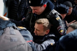 Moscow rejects U.S., EU calls to release detained opposition protesters