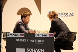 Aronian, Carlsen draw in Round 2 of Grenke Chess Classic