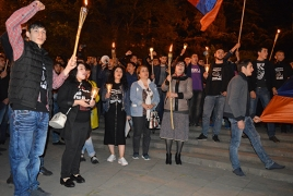 Tbilisi procession seeks reparations for Armenian Genocide