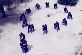 Kuwait Desert flash mob commemorates Armenian Genocide victims