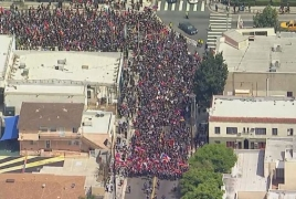 Thousands march in LA to honor memory of Genocide victims