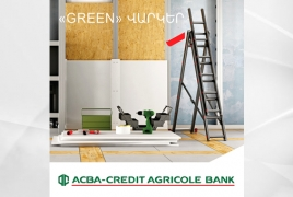 ACBA-Credit Agricole Bank offers loans for energy efficiency projects