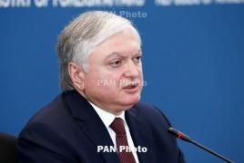 Налбандян - генсеку СЕ: МГ ОБСЕ указал, что Азербайджан виновен в эскалации в Карабахе