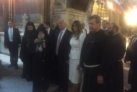 Трамп в Иерусалиме послушал духовные песни в исполнении армянского хора