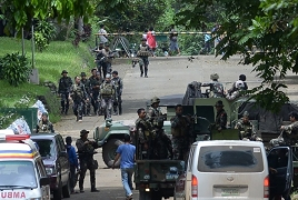 Philippines military jets fire rockets at IS-linked militant positions