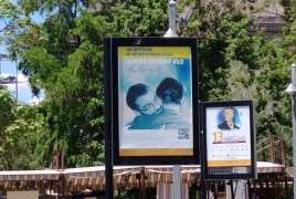 LGBT-themed social advertising posters installed in Armenian capital