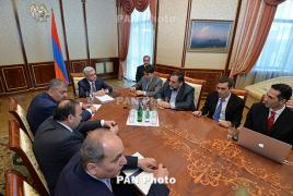 Саргсян обсудил с FAST развитие в Армении среды для технологических инноваций