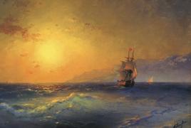 На аукционе в Лондоне выставили 5 картин Айвазовского