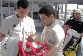 Сборная Армении по футболу отправилась в Черногорию