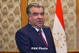 Tajikistan's president arrives in Armenia