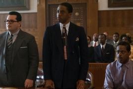 "Chadwick Boseman, Josh Gad fight bigotry in ""Marshall"" trailer"
