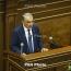 Karabakh: Armenia NA speaker wants action from Azeri counterpart
