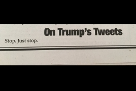 «Остановись. Просто остановись»: New York Post посвятила Трампу статью из 3 слов