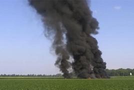 U.S. military plane crashes in Mississippi, kills 16