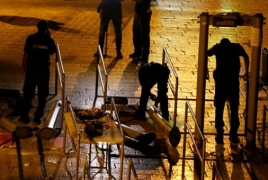 Israel to remove metal detectors in Jerusalem's Old City